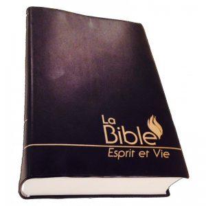 Bible Esprit et Vie - Vinyle noir souple